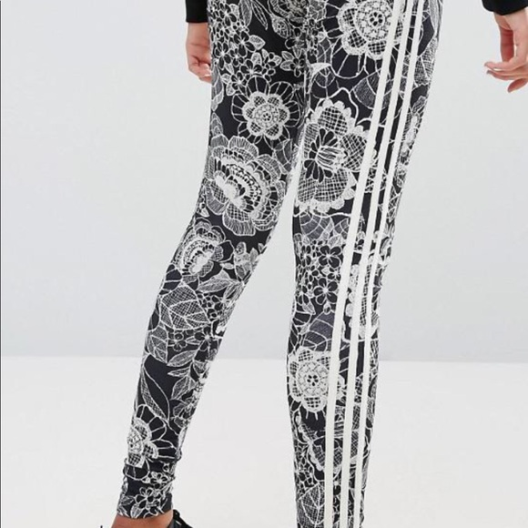 6f41b6304d4203 adidas Pants | Originals Farm Floral Print Leggings | Poshmark